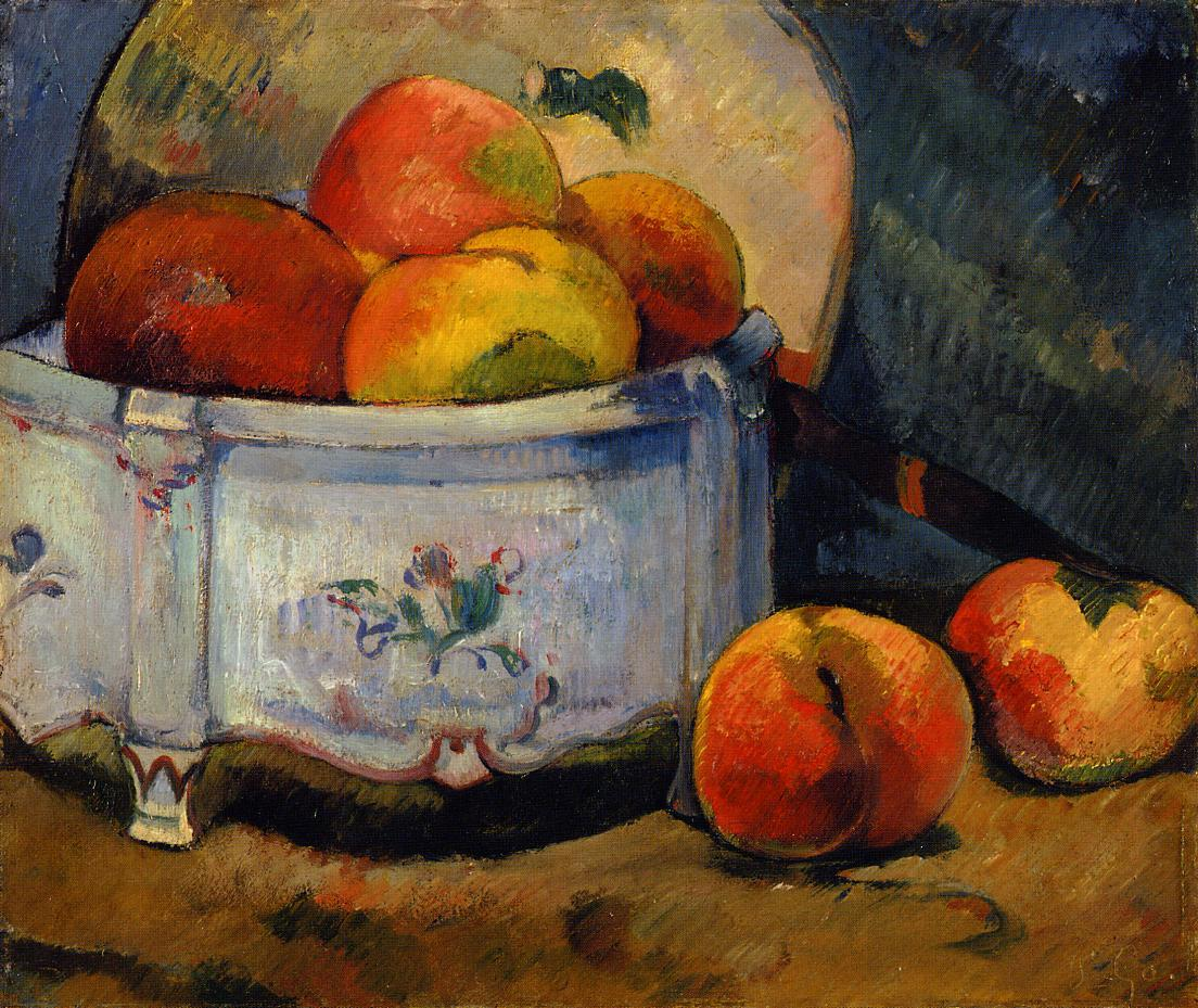 paul cezanne still life with basket of apples