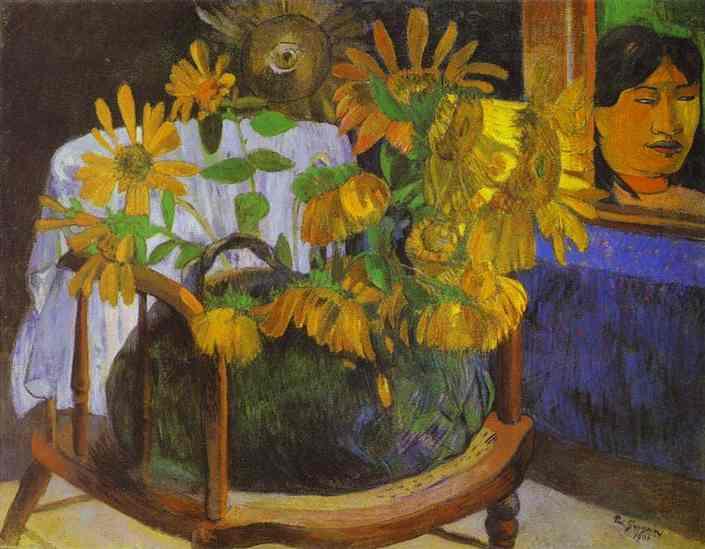 Still Life with Sunflowers on an armchair, 1901 - Paul Gauguin