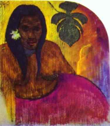 Tahitian Woman, 1899 - Paul Gauguin