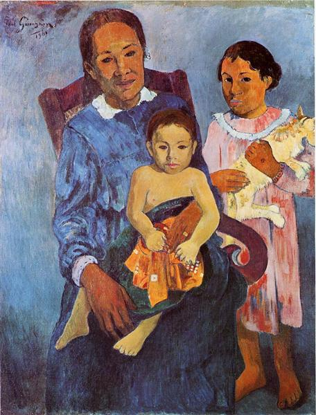 Tahitian woman and two children, 1901 - Paul Gauguin