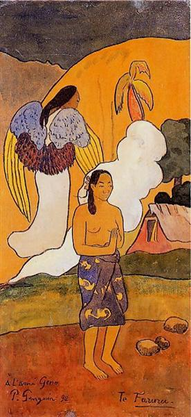 The encounter, 1892 - Paul Gauguin