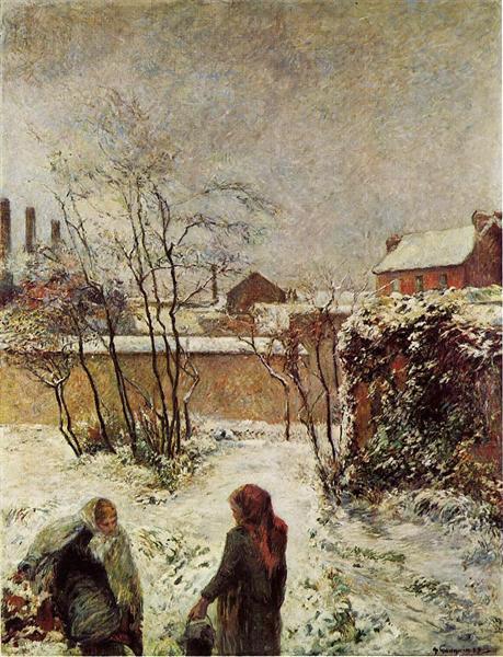 The garden in winter, rue Carcel - Gauguin Paul
