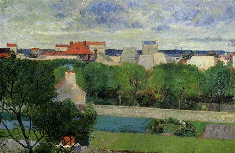 The market gardens of Vaugirard, 1879 - Paul Gauguin