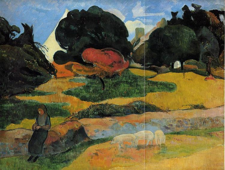 The swineherd, 1889 - Paul Gauguin