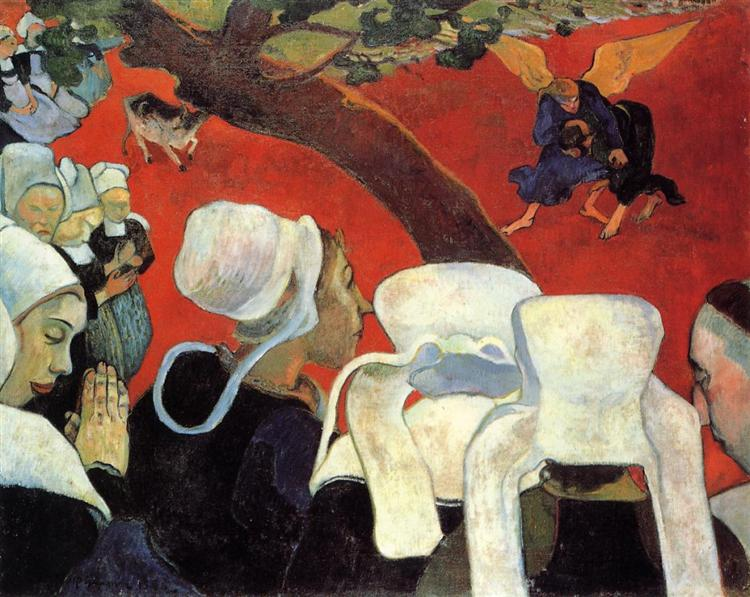 The Vision after the Sermon (Jacob wrestling with the Angel), 1888 - Paul Gauguin