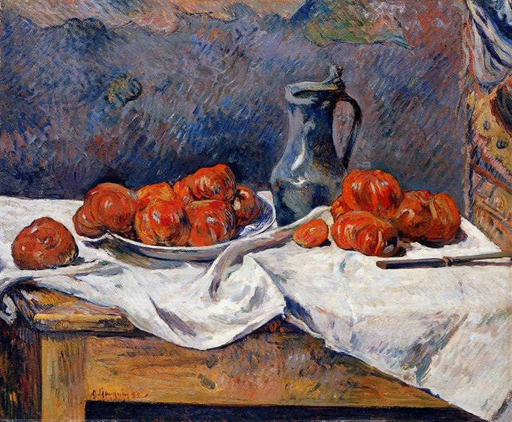 Tomatoes and a pewter tankard on a table, 1883 - Paul Gauguin