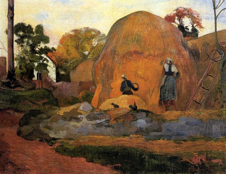 Yellow Haystacks (Golden Harvest), 1889 - Paul Gauguin