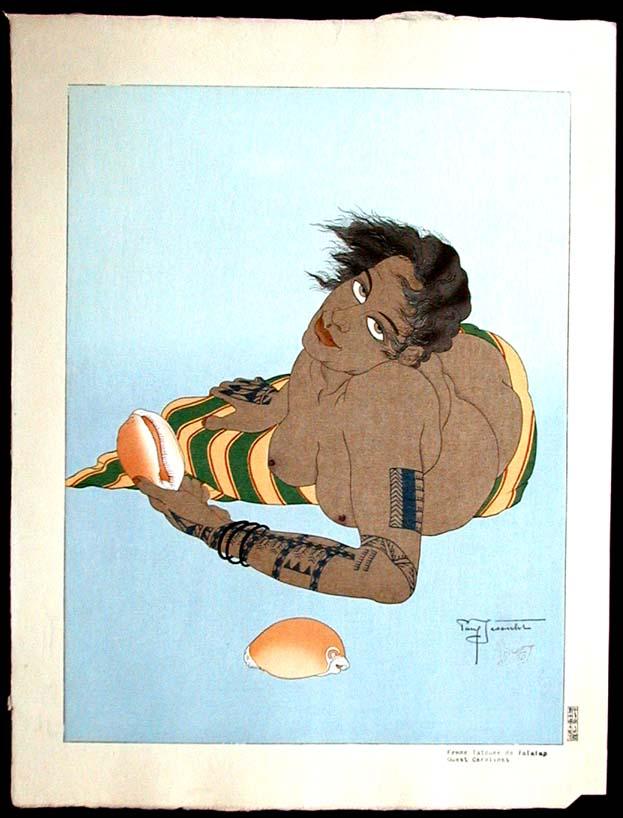 Femme Tatouee De Falalap. Ouest Carolines, 1935