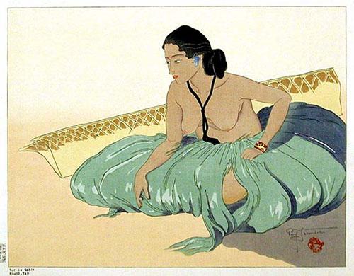 Sur Le Sable. Rhull, Yap, 1937