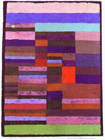 Twittering Machine >> Individualized Altimetry of Stripes, 1930 - Paul Klee - WikiArt.org