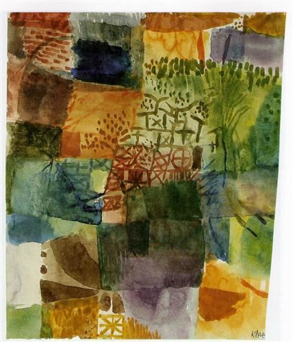 Remembrance of a Garden, by Paul Klee, 1914 (via WikiPaintings)