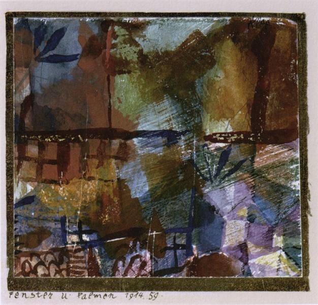 Windows and palm trees - Paul Klee