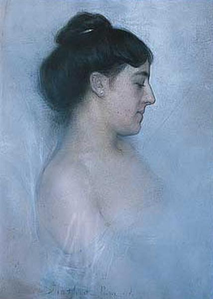 Portrait of Woman, 1898 - Paul Mathiopoulos