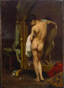 A Venetian Bather - Paul Peel