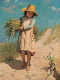 The Young Gleaner - Paul Peel