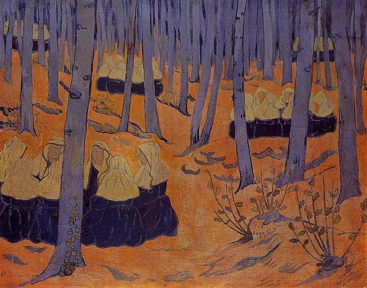 Breton Women, the Meeting in the Sacred Grove - Paul Serusier