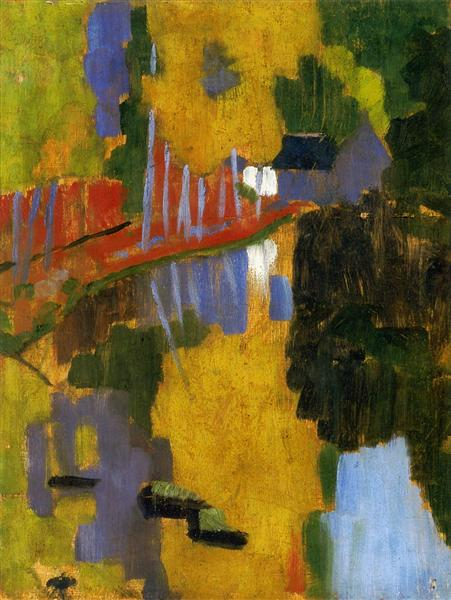 The Talisman: The Aven River at the Bois d'Amour, 1888 - Paul Serusier