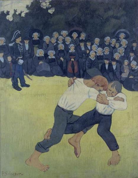 The Wrestling Bretons, 1893 - Paul Serusier