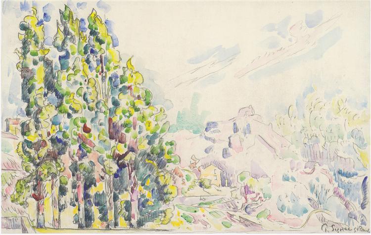 Saint Paul de Vence, c.1921 - Paul Signac