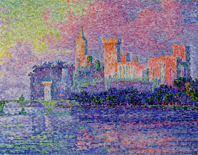 the papal palace avignon 1900 paul signac. Black Bedroom Furniture Sets. Home Design Ideas