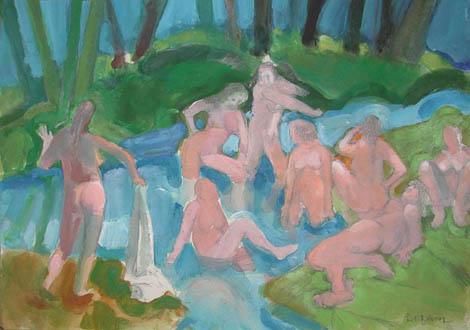 Bathers After Cezanne II, 2003 - Paul Wonner