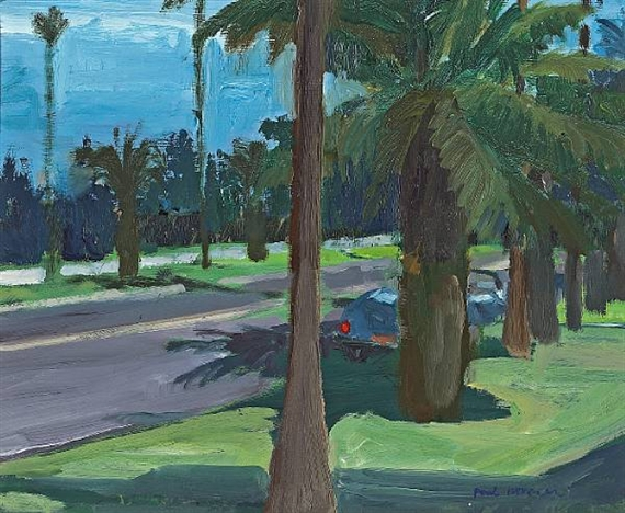 Landscape with Trees, Santa Monica - Paul Wonner