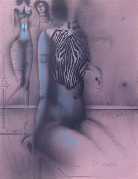 Zebrabluse, 1969 - Paul Wunderlich