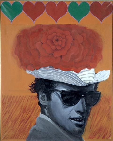 With Love to Jean-Paul Belmondo, 1962 - Pauline Boty