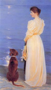 Summer Evening at Skagen - Peder Severin Krøyer