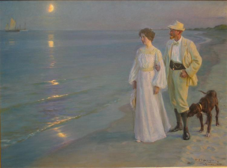 Summer Evening On Skagen S Beach 1899 Peder Severin Kroyer
