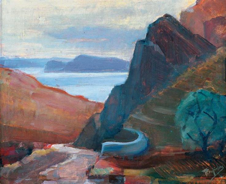 Landscape Delphi, 1942 -  Periklis Vyzantios