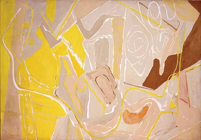 Line and Color Interwoven, 1950 - Perle Fine