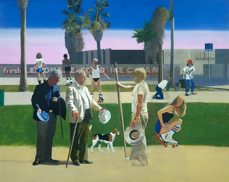 The Meeting (or Have a Nice Day, Mr. Hockney), 1981 - 1983 - Peter Blake