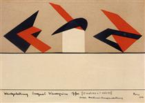 Plan for the Berliner Art Exhibition - Peter Laszlo Peri