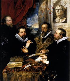Selfportrait with brother Philipp, Justus Lipsius and another scholar - Peter Paul Rubens