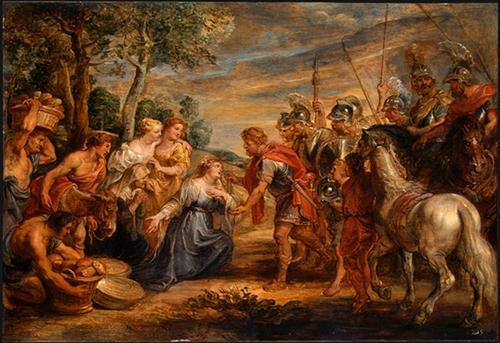 The Meeting of David and Abigail - Peter Paul Rubens