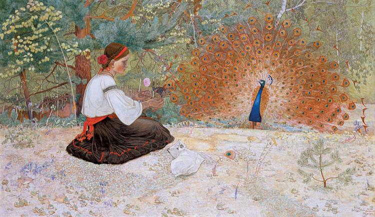 Tale of a Girl and a Peacock - Petro Kholodny (Elder)