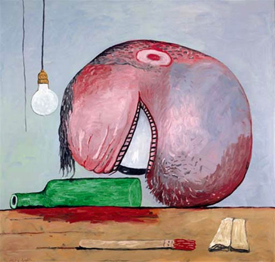 Head and Bottle, 1975 - Philip Guston