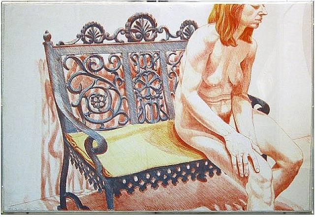 Girl On Iron Bench, 1972 - Philip Pearlstein