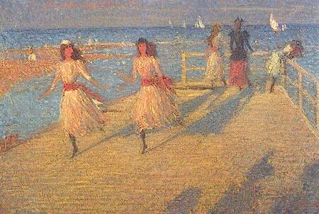 Girls Running, Walberswick Pier, c.1890 - Philip Wilson Steer