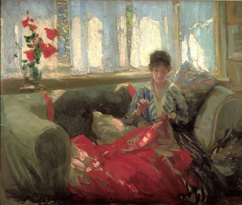 Woman Sewing - Philip Wilson Steer