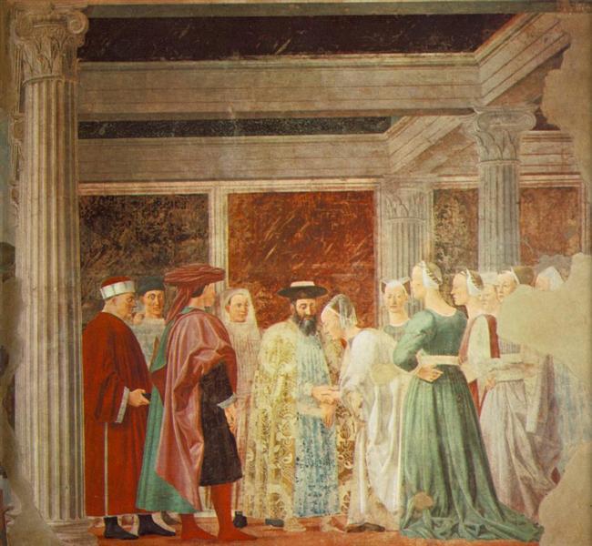Meeting between the Queen of Sheba and King Solomon, 1452 - 1466 - Piero della Francesca
