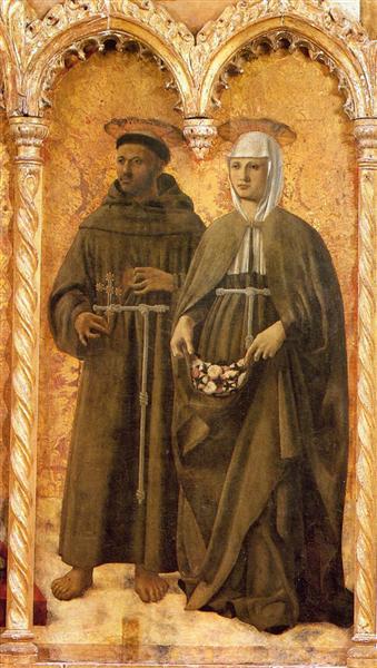 St. Francis and St. Elizabeth, c.1460 - Piero della Francesca