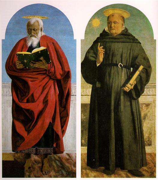 Св. Иоанн Богослов и Св. Николас Толентинский, 1454 - 1469 - Пьеро делла Франческа