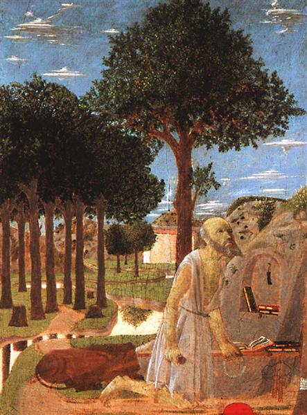The Penance of St. Jerome, c.1450 - Piero della Francesca