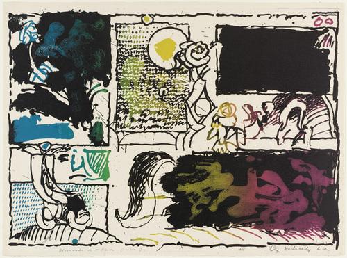 Discovery of Acid (Act II) [Découverte de l'acide (acte II)], 1968 - Pierre Alechinsky