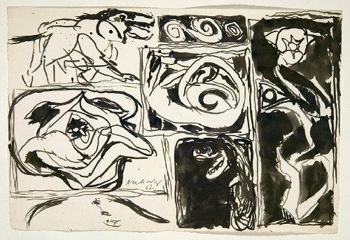 Pelures d'orange et dérivés, 1962 - Pierre Alechinsky