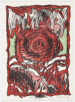 Plate (folio 4) from Schismes, 1978 - Pierre Alechinsky