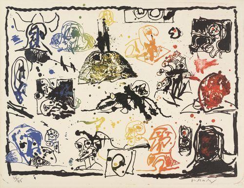 Une Pierre, deux passages (One Stone, Two Passes), 1967 - Pierre Alechinsky