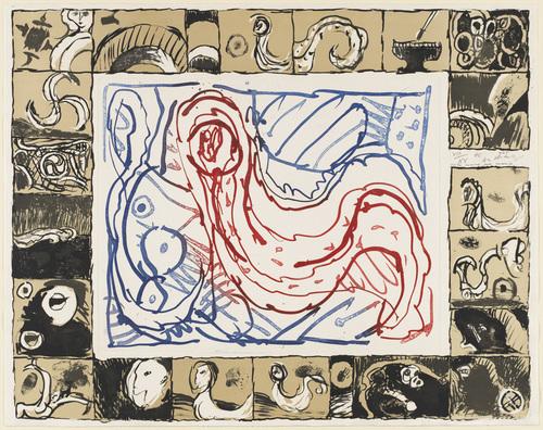 Veiled Like a Young Bride (Voilée comme une mariée) 1975, 1966 - Pierre Alechinsky